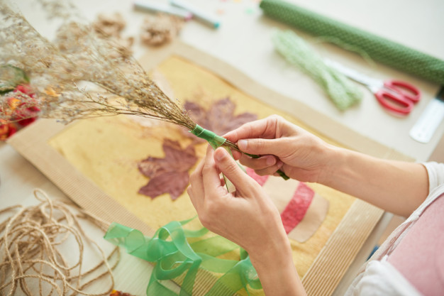 Bibliothèque au fils des saisons/ fabrique ton herbier  3-6 ans