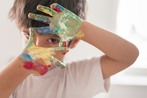 """peinture mains à la """"Andy Warhol"""""""