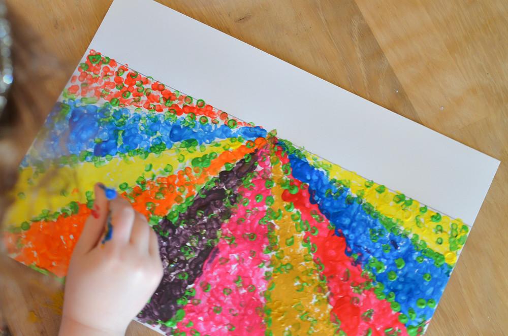 Peinture aux cotons tiges